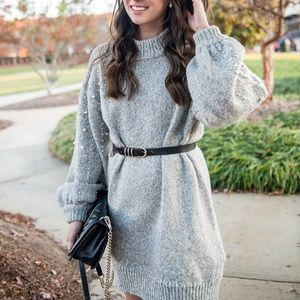 Pearl Chunky Sweater Dress